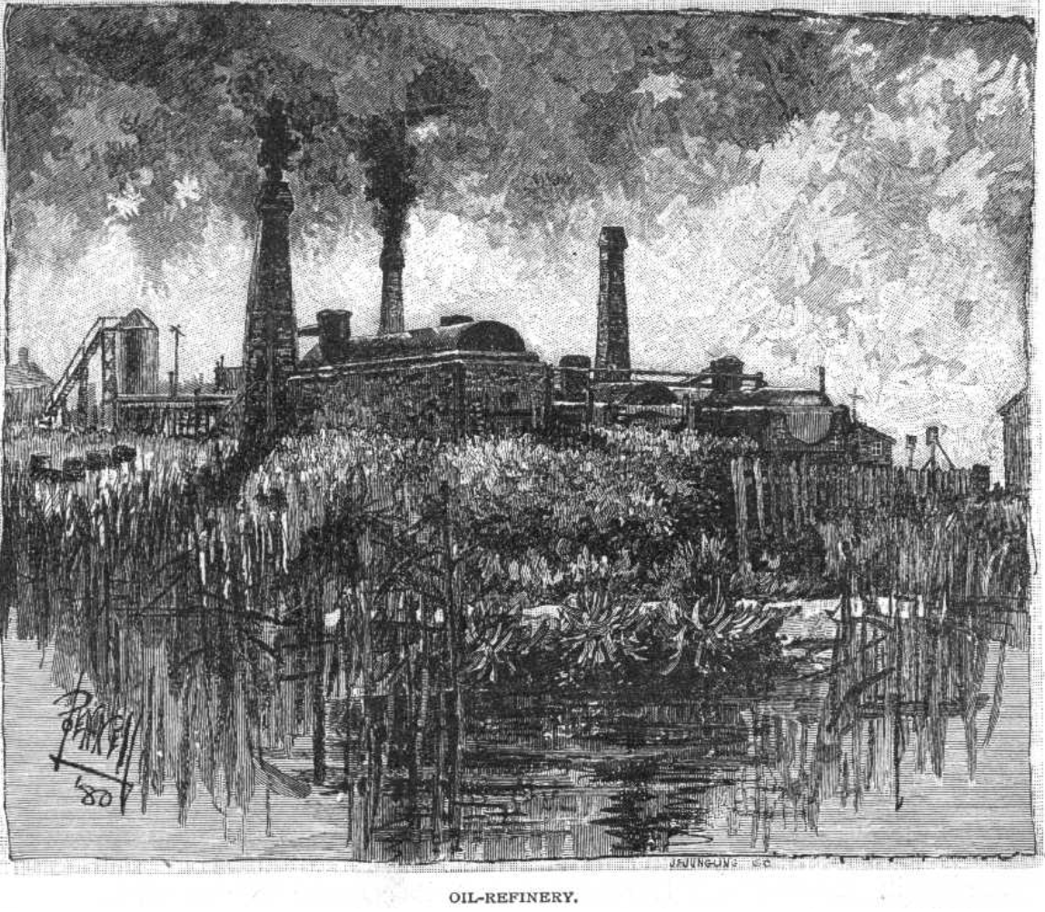 Joseph Pennel Oil Refinery 1881.png